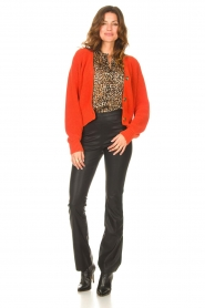 Les Favorites |  Knitted cardigan with buttons Sienna | red  | Picture 3