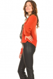 Les Favorites |  Knitted cardigan with buttons Sienna | red  | Picture 5