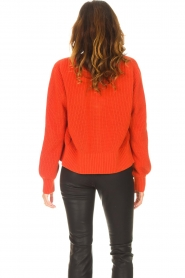 Les Favorites |  Knitted cardigan with buttons Sienna | red  | Picture 6