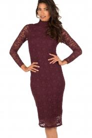 Style Butler | Kanten jurk Jaclyn | aubergine  | Afbeelding 2