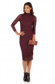 Style Butler | Kanten jurk Jaclyn | aubergine  | Afbeelding 3