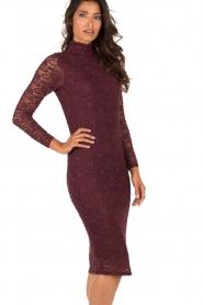 Style Butler | Kanten jurk Jaclyn | aubergine  | Afbeelding 4