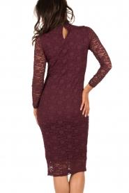 Style Butler | Kanten jurk Jaclyn | aubergine  | Afbeelding 5