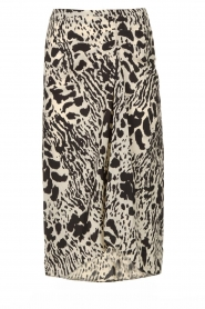 ba&sh |  Print skirt Opera | black  | Picture 1