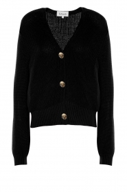 Les Favorites |  Knitted cardigan with buttons Sienna | black  | Picture 1