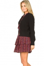 Les Favorites |  Knitted cardigan with buttons Sienna | black  | Picture 5