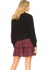 Les Favorites |  Knitted cardigan with buttons Sienna | black  | Picture 6