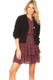 Les Favorites |  Knitted cardigan with buttons Sienna | black  | Picture 4