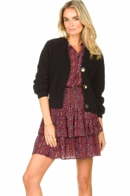 Les Favorites |  Knitted cardigan with buttons Sienna | black  | Picture 2