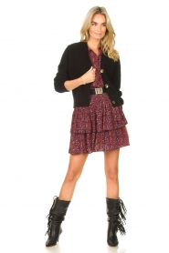 Les Favorites |  Knitted cardigan with buttons Sienna | black  | Picture 3