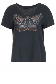 T-shirt with butterfly Raw | dark grey