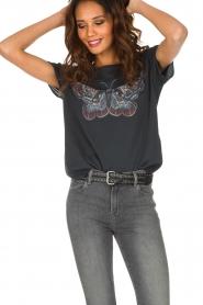 Set | T-shirt met vlinder Raw| donkergrijs  | Afbeelding 2