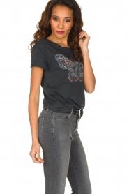 Set | T-shirt met vlinder Raw| donkergrijs  | Afbeelding 4