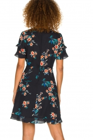Kocca |  Wrap dress with florals Accro | black  | Picture 5