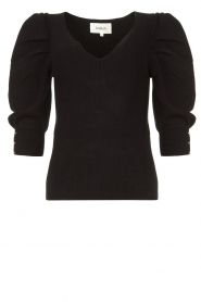 ba&sh |  Sweater with puff sleeves Harris | black  | Picture 1