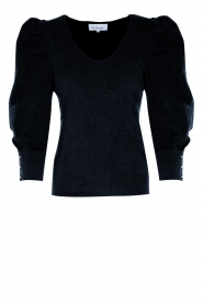 Les Favorites    Sweater with puff sleeves Lucy   black    Picture 1
