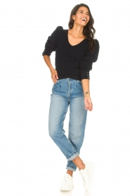 Les Favorites    Sweater with puff sleeves Lucy   black    Picture 3