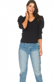 Les Favorites    Sweater with puff sleeves Lucy   black    Picture 5