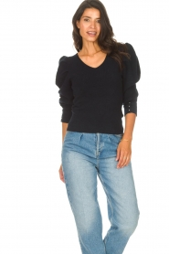 Les Favorites    Sweater with puff sleeves Lucy   black    Picture 4