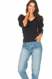 Les Favorites    Sweater with puff sleeves Lucy   black    Picture 2