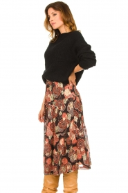 ba&sh :  Lurex midi skirt Heidi | black - img4