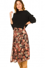 ba&sh :  Lurex midi skirt Heidi | black - img2
