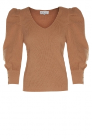 Les Favorites |  Sweater with puff sleeves Lucy | camel  | Picture 1