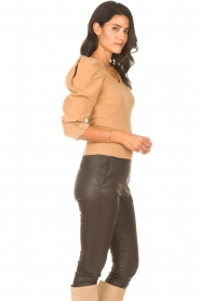 Les Favorites |  Sweater with puff sleeves Lucy | camel  | Picture 6