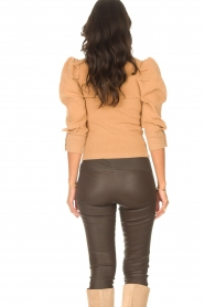 Les Favorites |  Sweater with puff sleeves Lucy | camel  | Picture 7