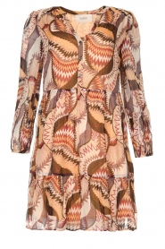 ba&sh |  Printed dress Twist | beige  | Picture 1
