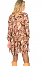 ba&sh :  Printed dress Twist | beige - img6