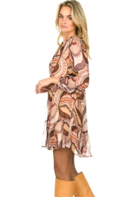 ba&sh :  Printed dress Twist | beige - img5