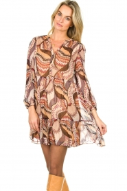 ba&sh :  Printed dress Twist | beige - img4