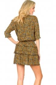 Les Favorites |  Printed dress Flori | black  | Picture 7