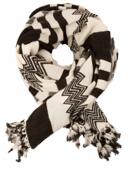 Scarf Harriet | black & white