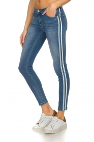 Kocca |  Skinny jeans with side stripes Bagkin | blue  | Picture 4