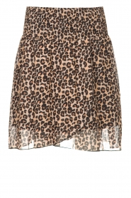 Les Favorites |  Skirt with panther print Fleur | black  | Picture 1