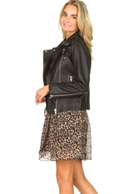Les Favorites |  Skirt with panther print Fleur | black  | Picture 6