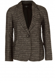 Boucle blazer Laura | black white