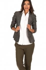 Style Butler | Bouclé blazer Laura | zwart wit   | Afbeelding 2