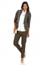 Style Butler | Bouclé blazer Laura | zwart wit   | Afbeelding 3