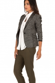 Style Butler |  Boucle blazer Laura | black white  | Picture 4