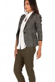 Style Butler | Bouclé blazer Laura | zwart wit   | Afbeelding 4