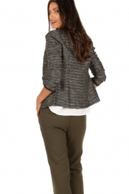 Style Butler |  Boucle blazer Laura | black white  | Picture 5