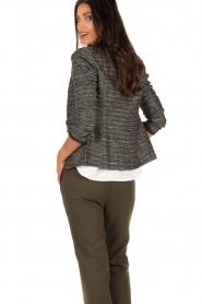 Style Butler | Bouclé blazer Laura | zwart wit   | Afbeelding 5
