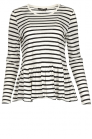 Set |  Striped T-shirt Ambra | White  | Picture 1