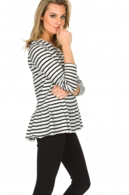 Set |  Striped T-shirt Ambra | White  | Picture 4