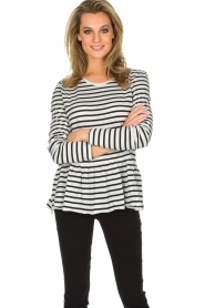 Set |  Striped T-shirt Ambra | White  | Picture 2