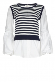 Kocca |  Sweater with blouse details Milugy | white  | Picture 1
