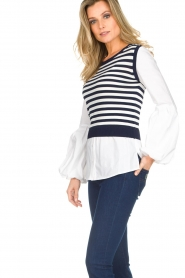 Kocca |  Sweater with blouse details Milugy | white  | Picture 5